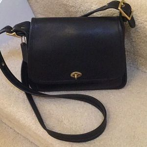 Coach Vintage Ramblers Legacy crossbody black bag